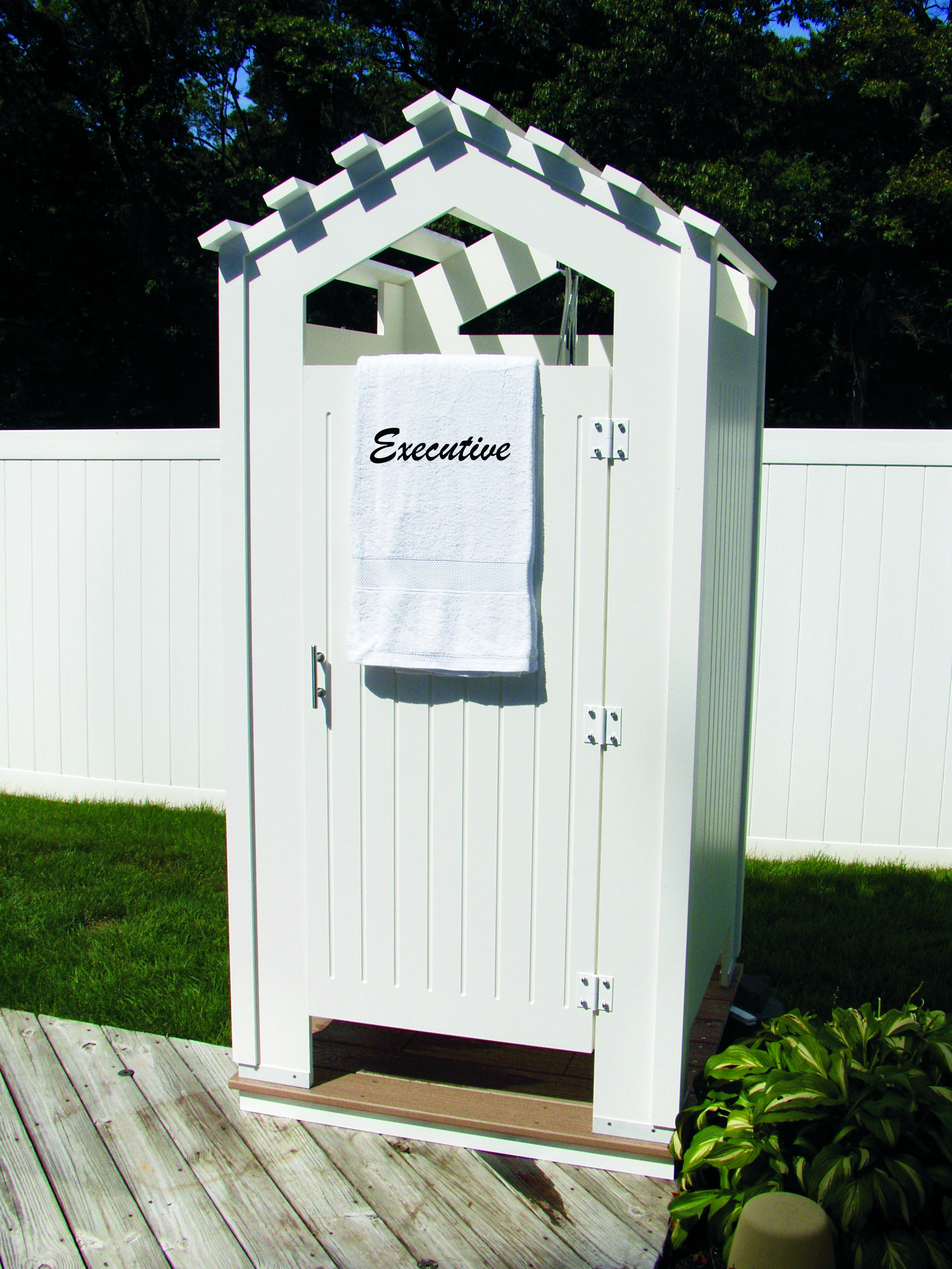 Showeroutdoor Com Outdoor Showers Made With 3 4 Quot Pvc Board