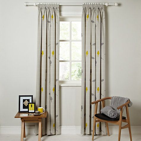 Buy John Lewis Bird On A Wire Lined Pencil Pleat Curtains Online At Johnlewis Living Room