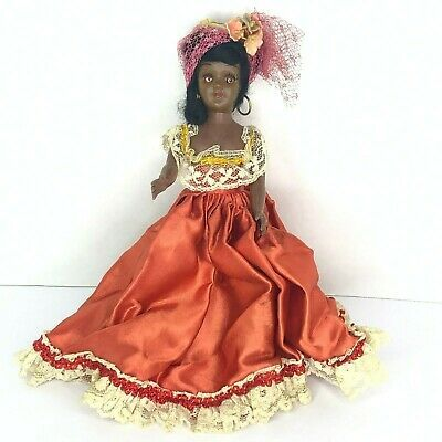 African American Doll Victorian Style Amber Dress Arms Wiggling Eyes | eBay
