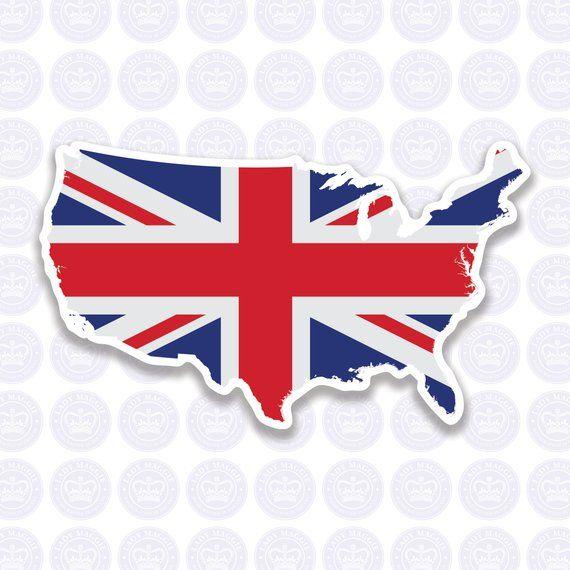 American British Flag Decal - Union Jack British Expat Decal