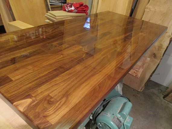 Walnut Butcher Block Desk Tops 25 Wide X 6 Ft Long Walnut