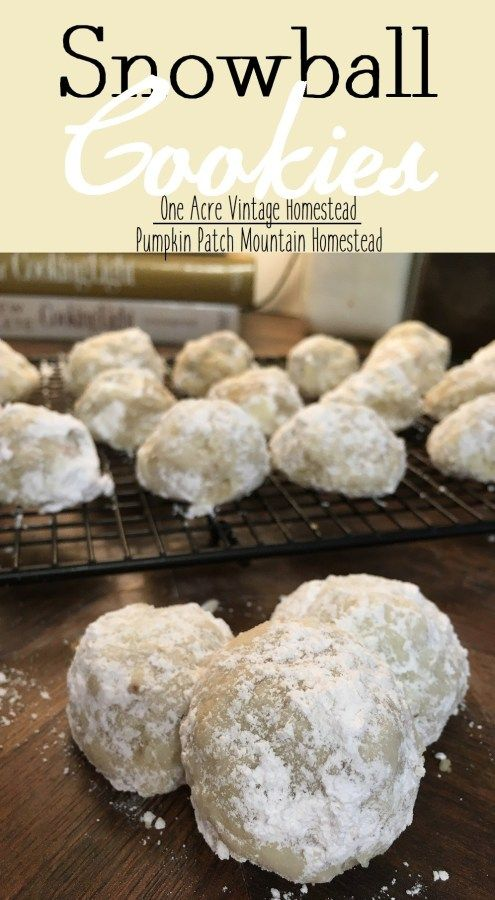 Snowball Cookies ⋆ One Acre Vintage & Pumpkin Patch Mtn. #pumpkinpatch