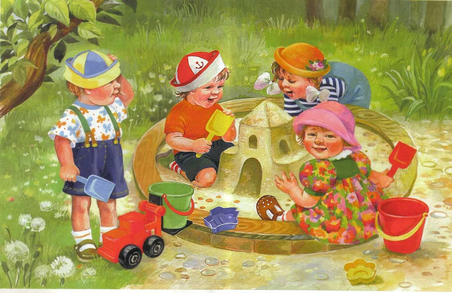 Днем, тематические картинки для детей 3-4 лет