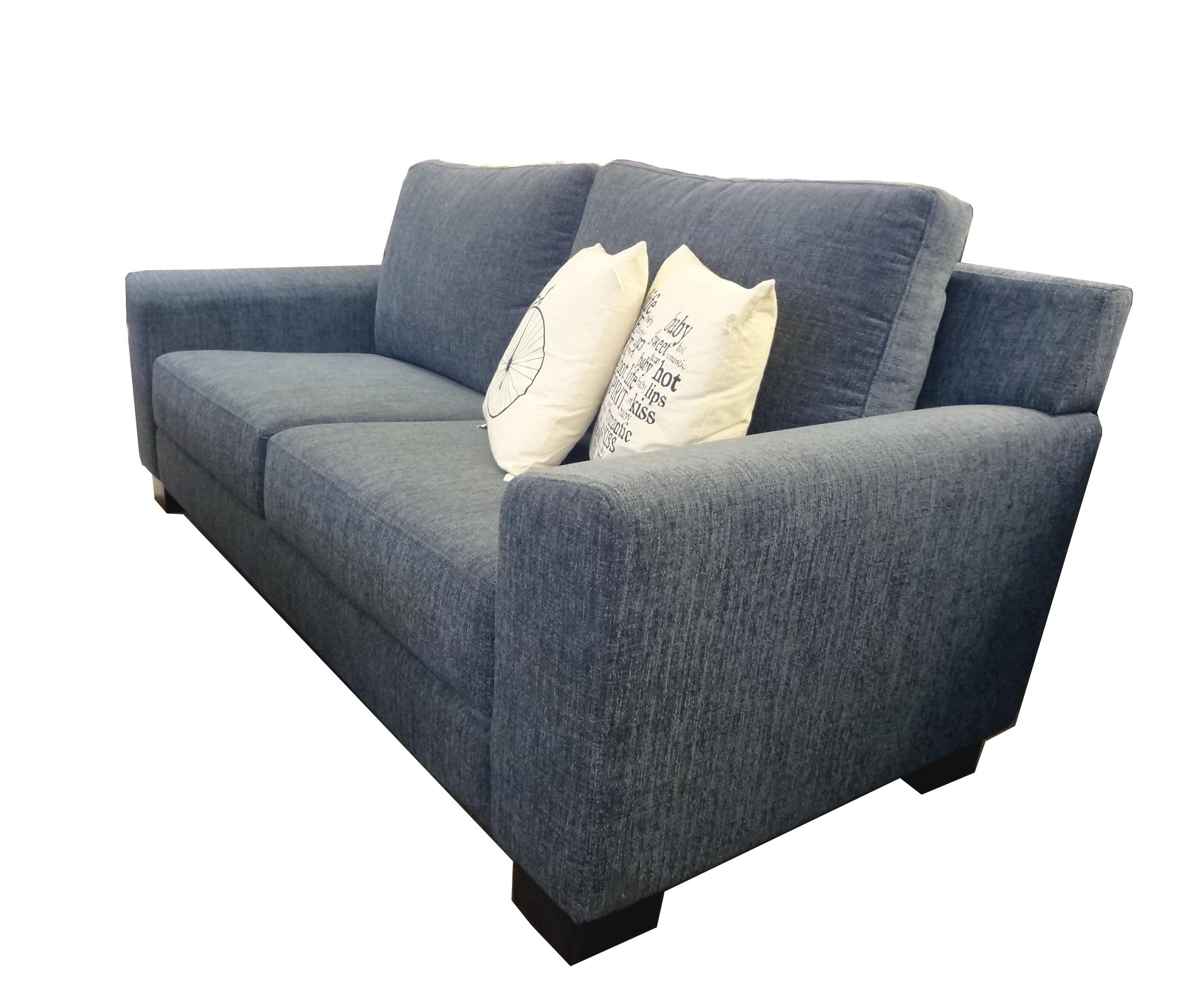 Sof boston azul en tela aquaclean de dos cuerpos y medio - Telas tapizar sofas ...