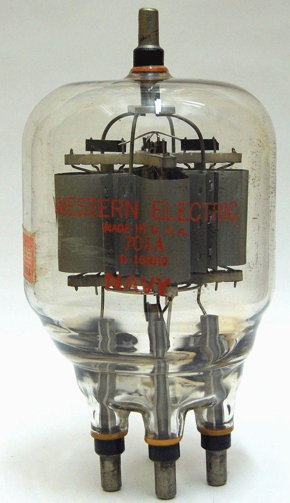 WESTERN ELECTRIC 701A TRANSMITTING TETRODE TUBE NOS