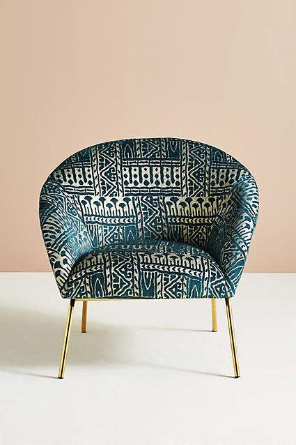 Rosa Print Hillside Accent Chair Family Room Accent