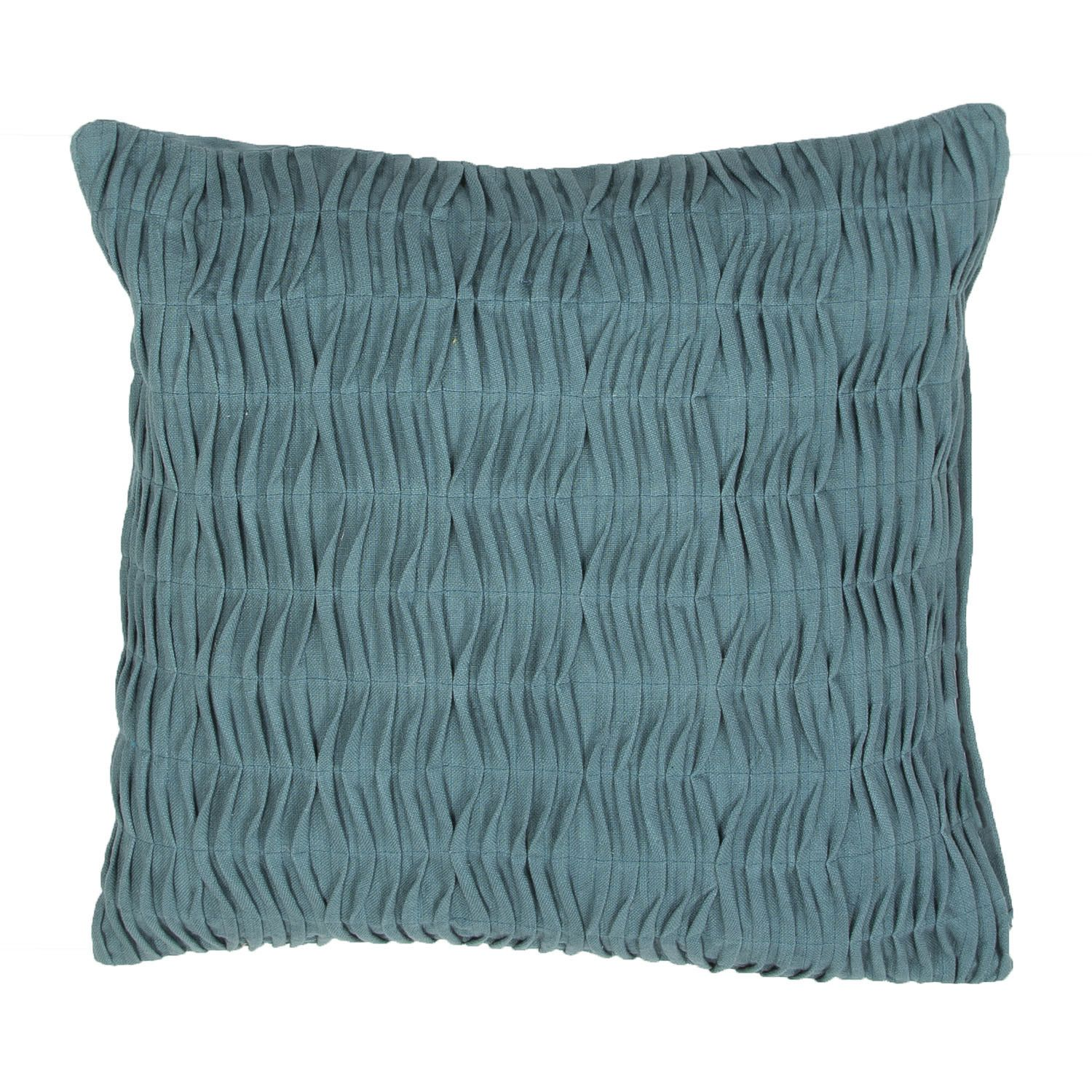 Petal Ruched Cotton Throw Pillow