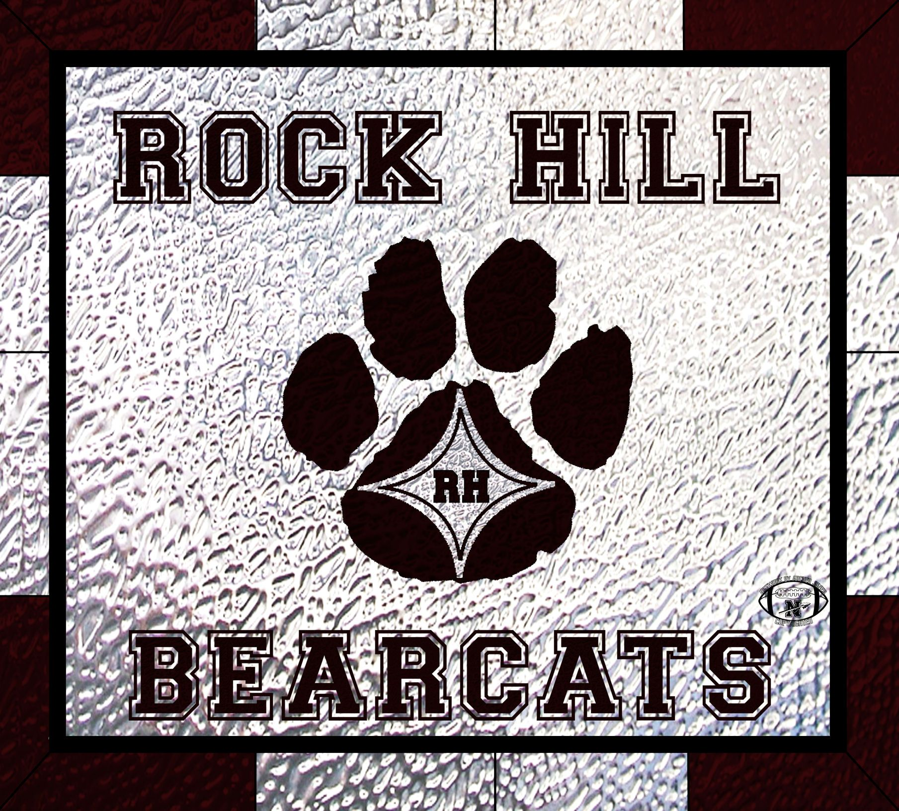 Rock Hill Bearcats Highschool Sc Artwork By Archer Jones Glass