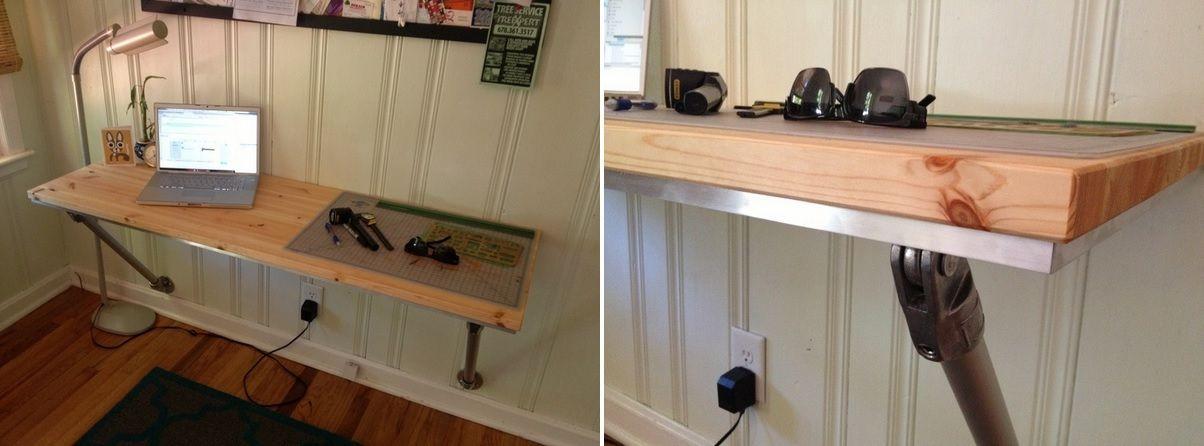 10 wallmounted desk designs for diy enthusiasts