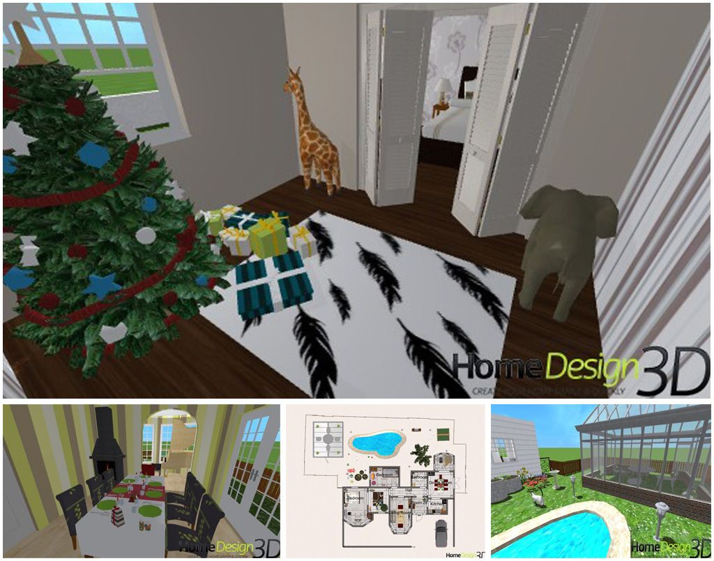 Beautiful house with a decorated christmas tree by TIGERLILY9 ! Congratulate, rate and comment his project on #Homedesign3d #chistmastree #decoration #diy