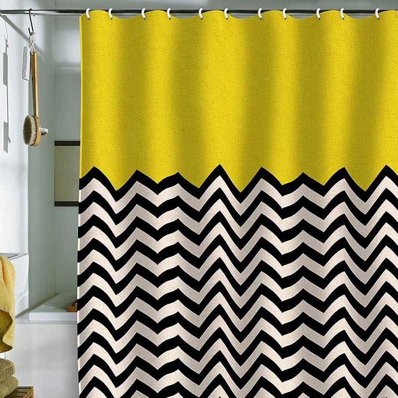 Follow The Sun Shower Curtain Bianca Green Pure Home With Images Yellow Shower Curtains Green Shower Curtains Chevron Shower Curtain