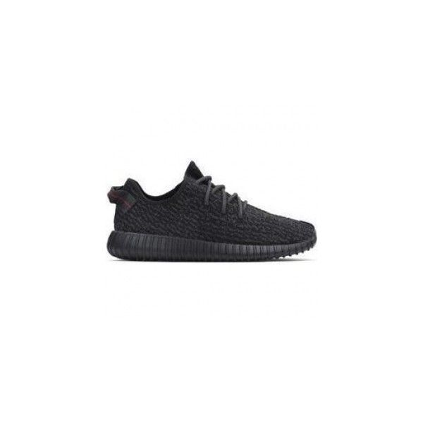 Adidas x Kanye West Yeezy 350 Boost Sneakers in Pirate Black ? liked on  Polyvore featuring