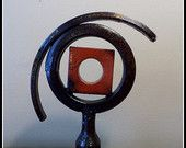 Found Object Recycled Metal Paperweight P10