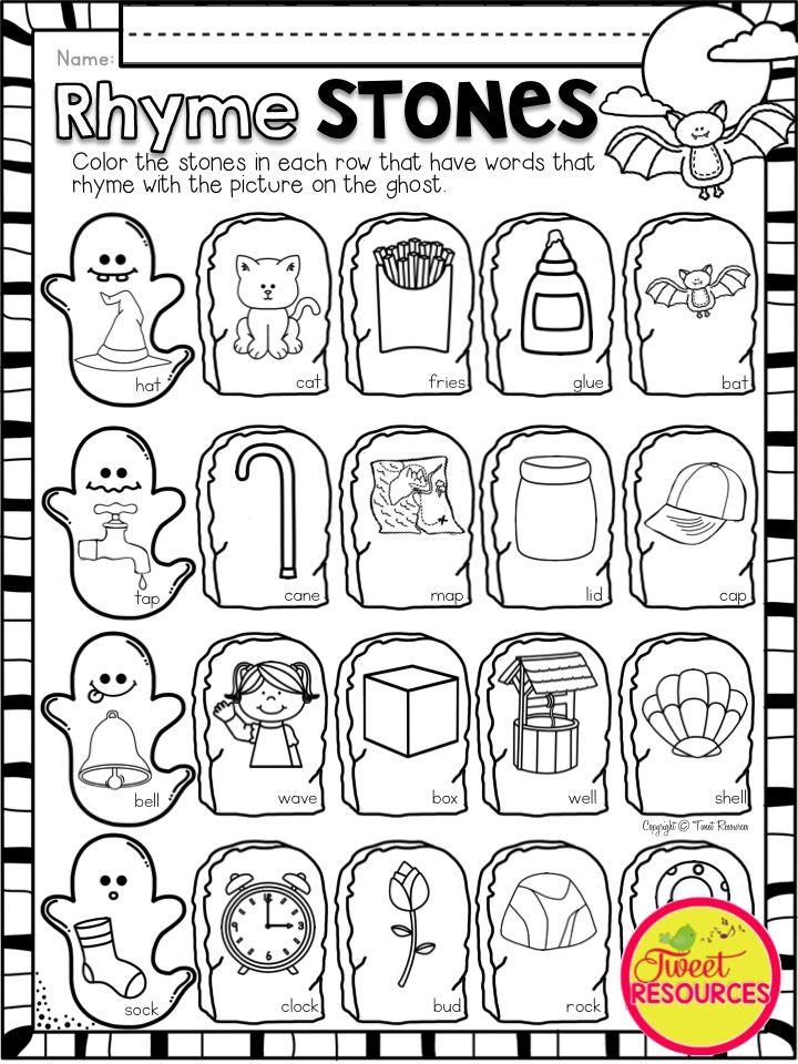 Halloween Literacy and Math Activities for Kindergarten