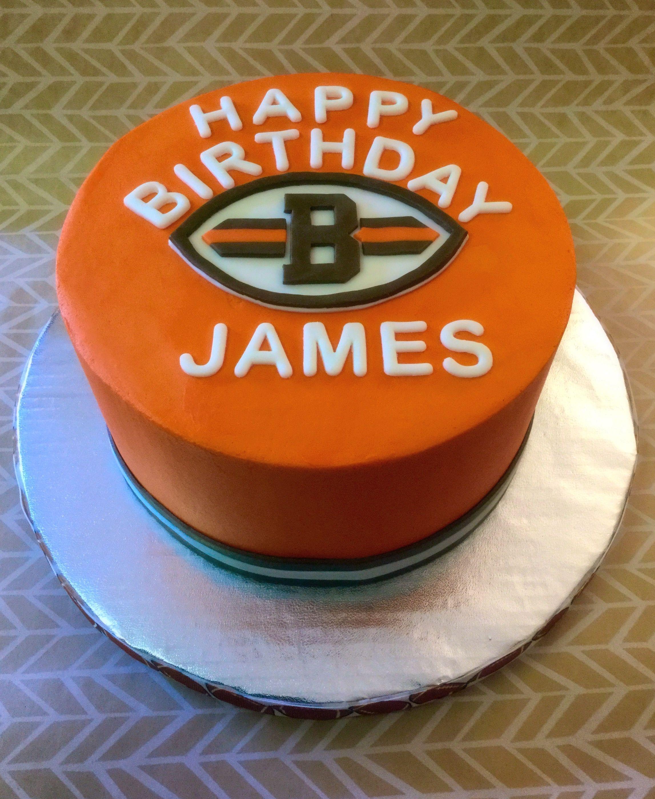 Cleveland Browns Birthday Cake Football Cake Cake Baking Company