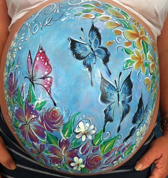 pregnant belly painting townsville angel faces pintura para embarazaas pinterest. Black Bedroom Furniture Sets. Home Design Ideas