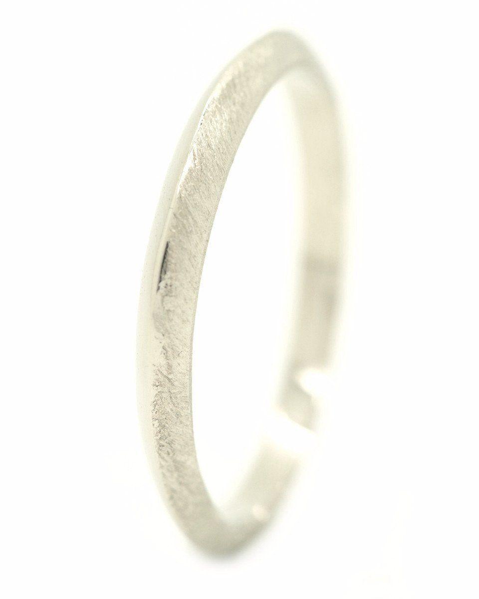 White gold wedding ring Nanini Jewelry Amsterdam Handmade