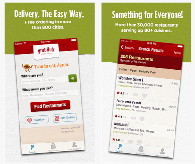 GrubHub Food Delivery & Takeout Top iphone apps, Food