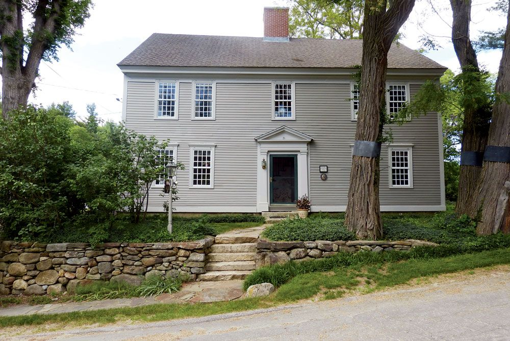 1779 Georgian Colonial In Francestown Nh House For Sale Colonial House House Viewing Saltbox Houses