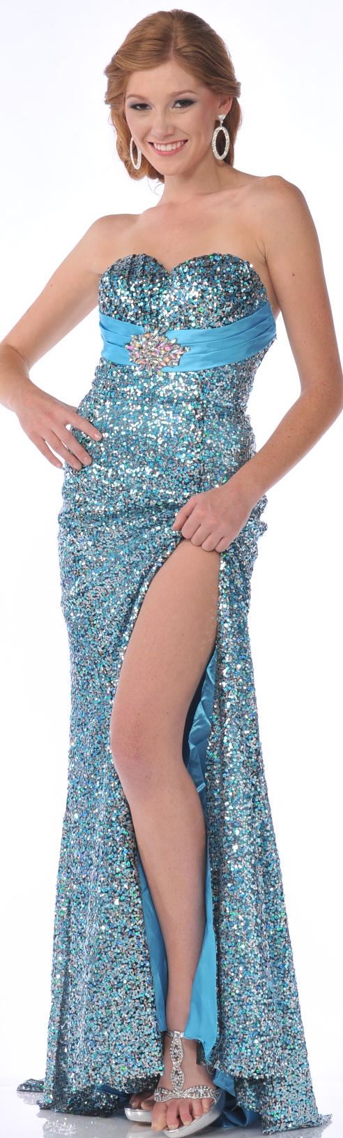 Evening Dress<BR>Prom Dress under $100<BR> 7537<BR>Sequin sweetheart ...