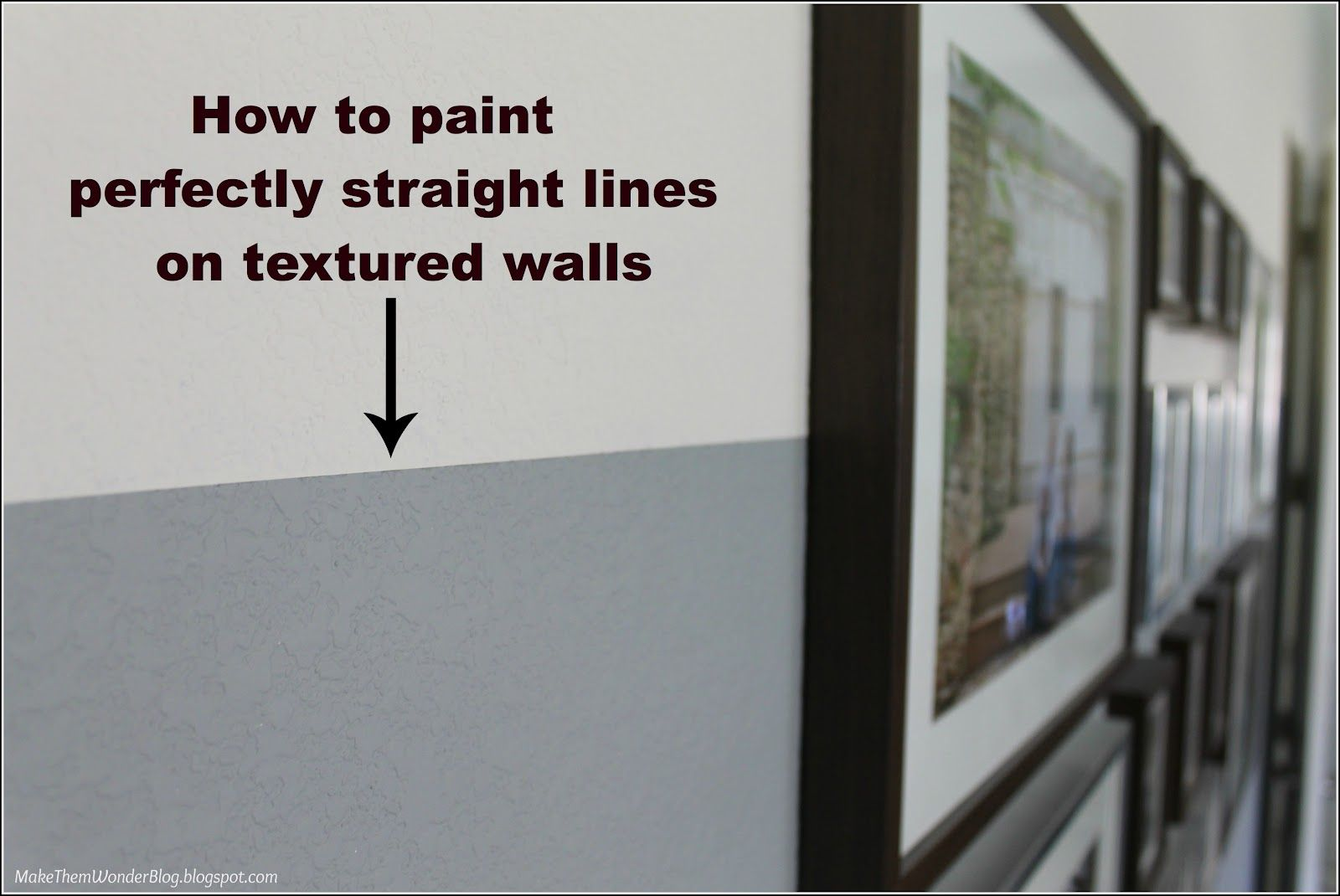 Make Them Wonder How to paint straight lines on textured walls