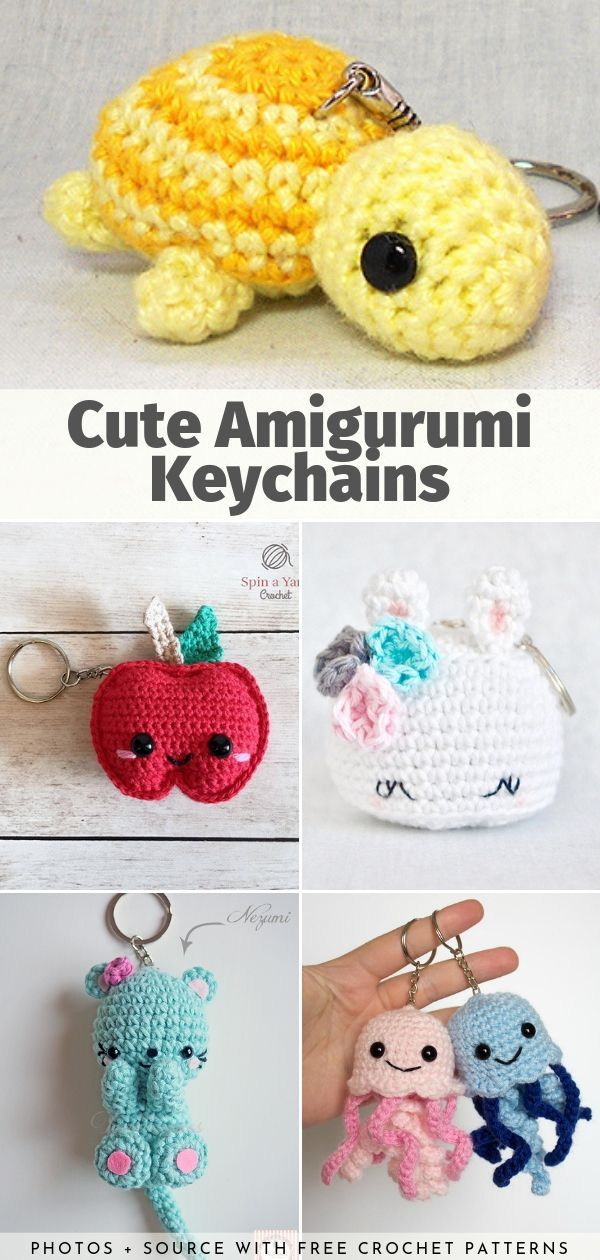 Cute Amigurumi Keychains Free Crochet Patterns
