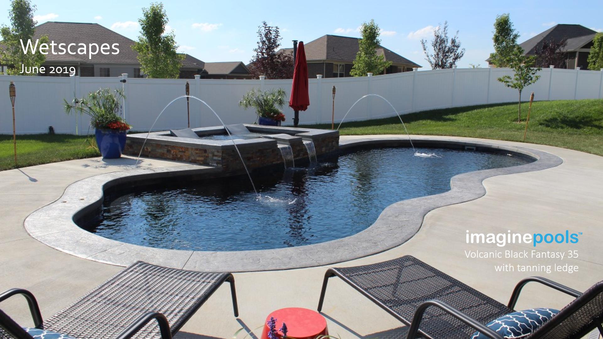 Imagine Pools Fantasy 35 With Tanning Ledge Swimming Pools Inground Pool Swimming Pools