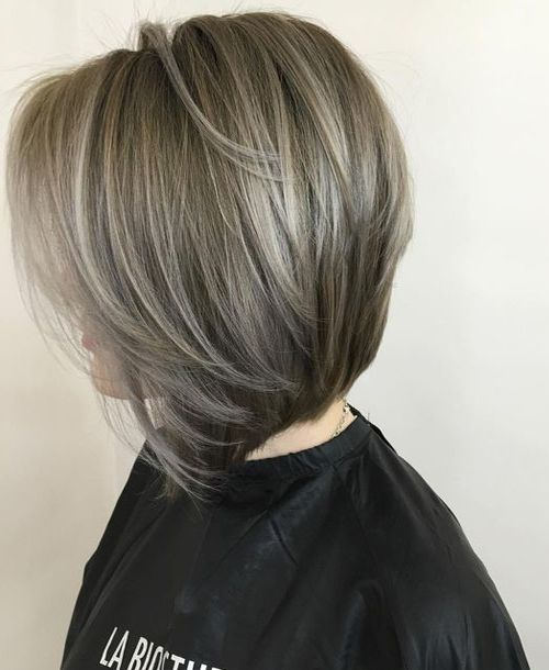 Gray Hair Color Ideas For Short Hairstyle 2017 Older Womens