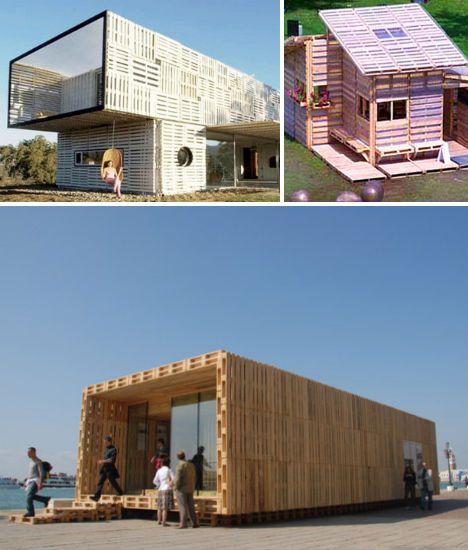 Maison en palettes de bois - construction maison en palettes