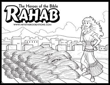 Rahab And The Spies Coloring Page Sketch Coloring Page