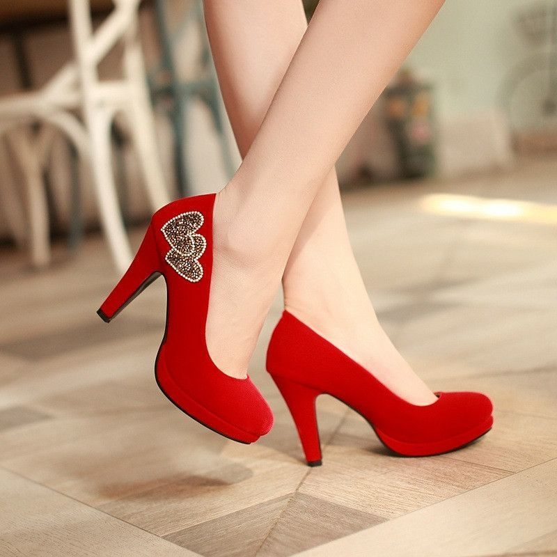 bb5bd3fdf5b Heels: approx 10 cm Platform: approx 1.5 cm Color: Black, Red Size: US 3,  4, 5, 6, 7, 8, 9 (All Measurement In Cm And Please Note 1cm=0.39inch)  Note:Use ...