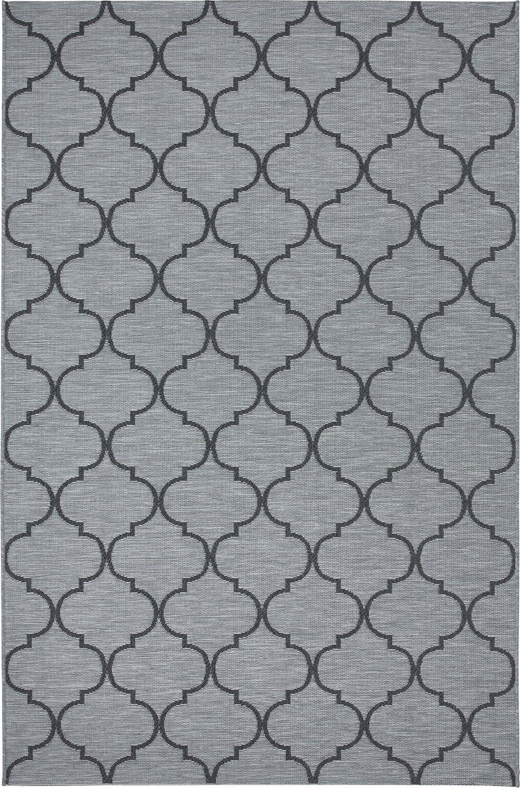 tappeto bianco nero beige colorato da esterno grigio