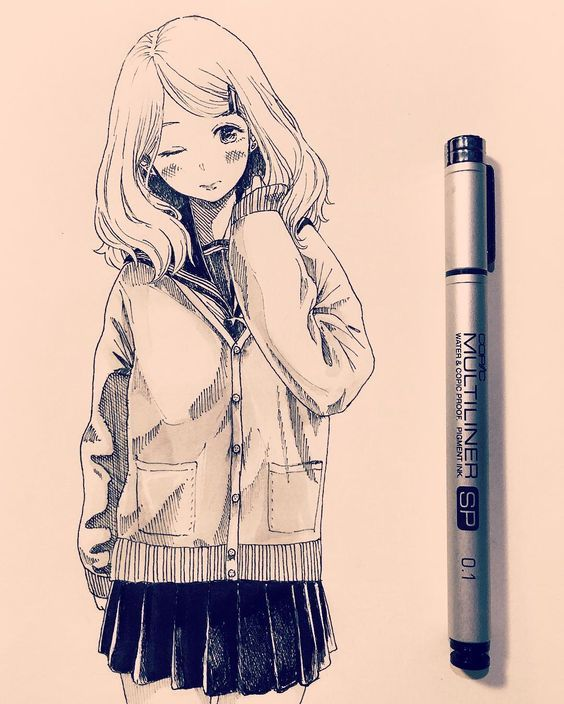 Pick Up A Pen And See What You Can Do Anime Drawings Anime