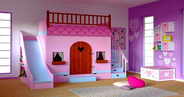 Cama en forma de casita recamara pau pinterest en for Decoracion de dormitorios infantiles de nina