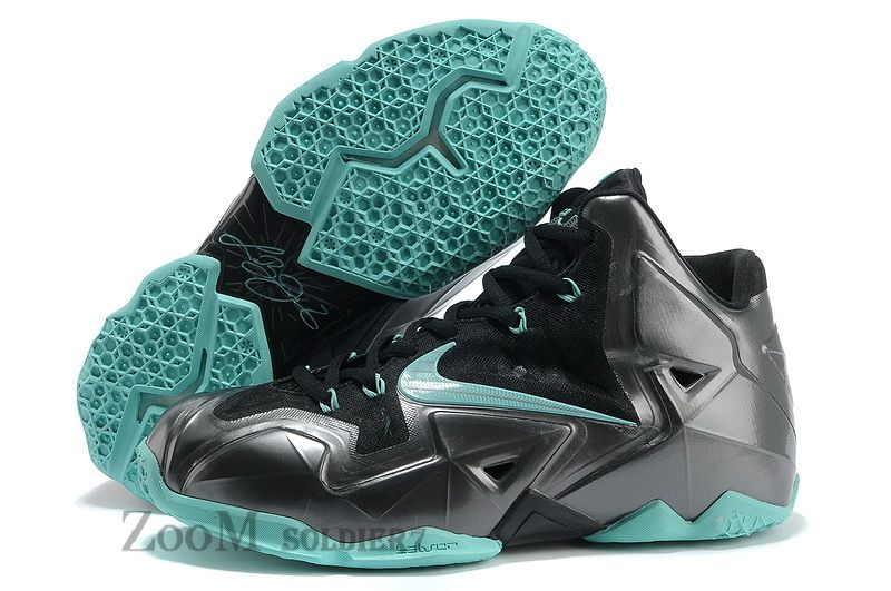 Nike Lebron James 11 Blue Black Green Shoes
