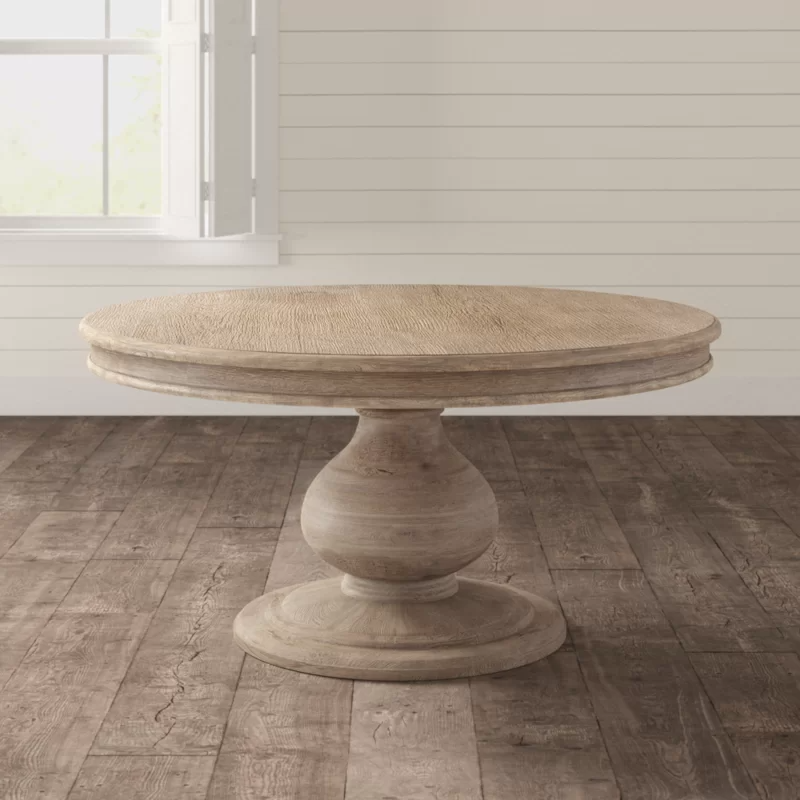 Abdiel Dining Table Solid Wood Dining Table Wood Dining Table Dining Table Solid wood round dining table