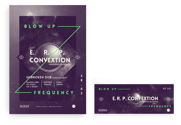 BlowUP Frequency by Dmitriy Andrievskiy, via Behance