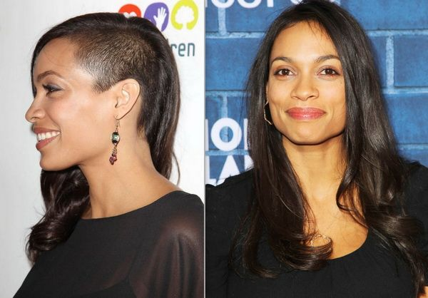 Rosario Dawson Sports A Half Shaved Hairstyle