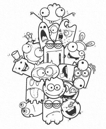 Monsters Graffiti Doodles Doodle Art Drawing Cute Doodle Art