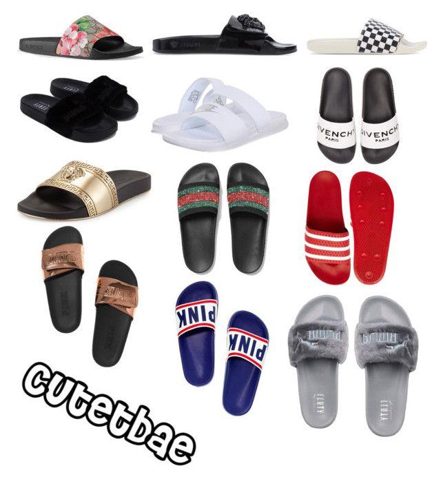 9011a3179f4 Nike White Benassi JDI Sliders 38 NZD liked on Polyvore