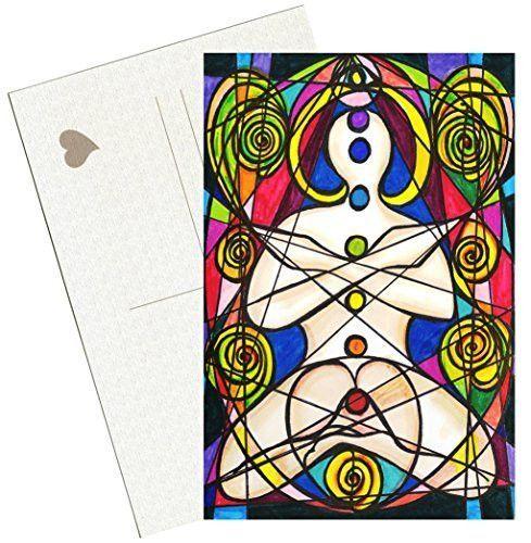 "Chakra Mastery 4""x6"" Set of 6 Linen Postcards"