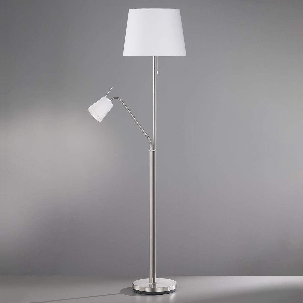 LED Standleuchte Messing matt H 160cm dimmer fexibel Stehleuchte Leselicht