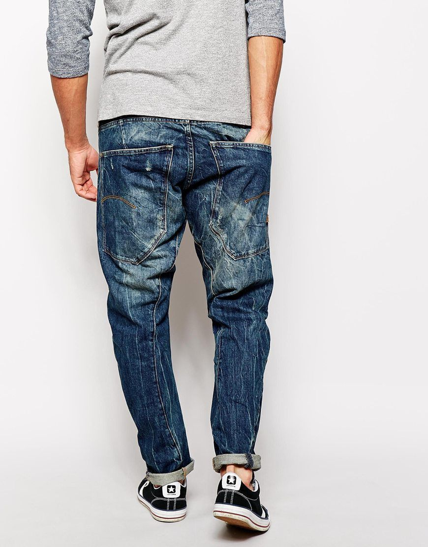 8cab4c8edc G-star Raw G Star Jeans Type C 3d Loose Tapered Block Wash in Blue for Men  (Blockwash)