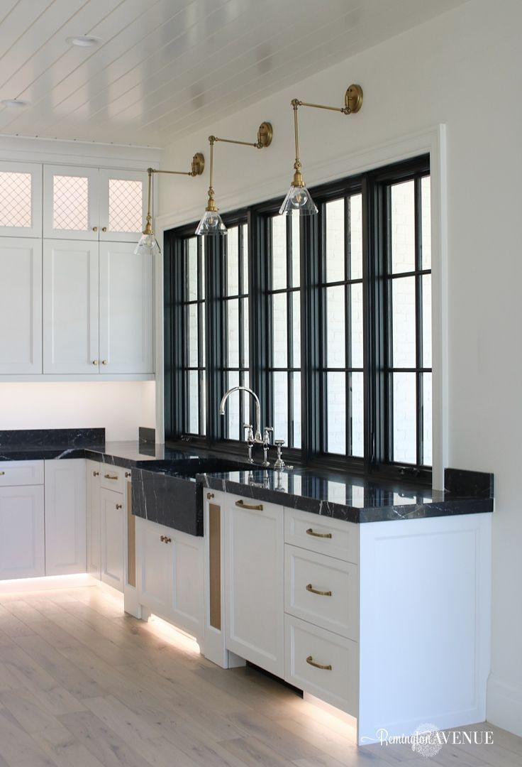 Kitchen Design With Black Marble Countertops