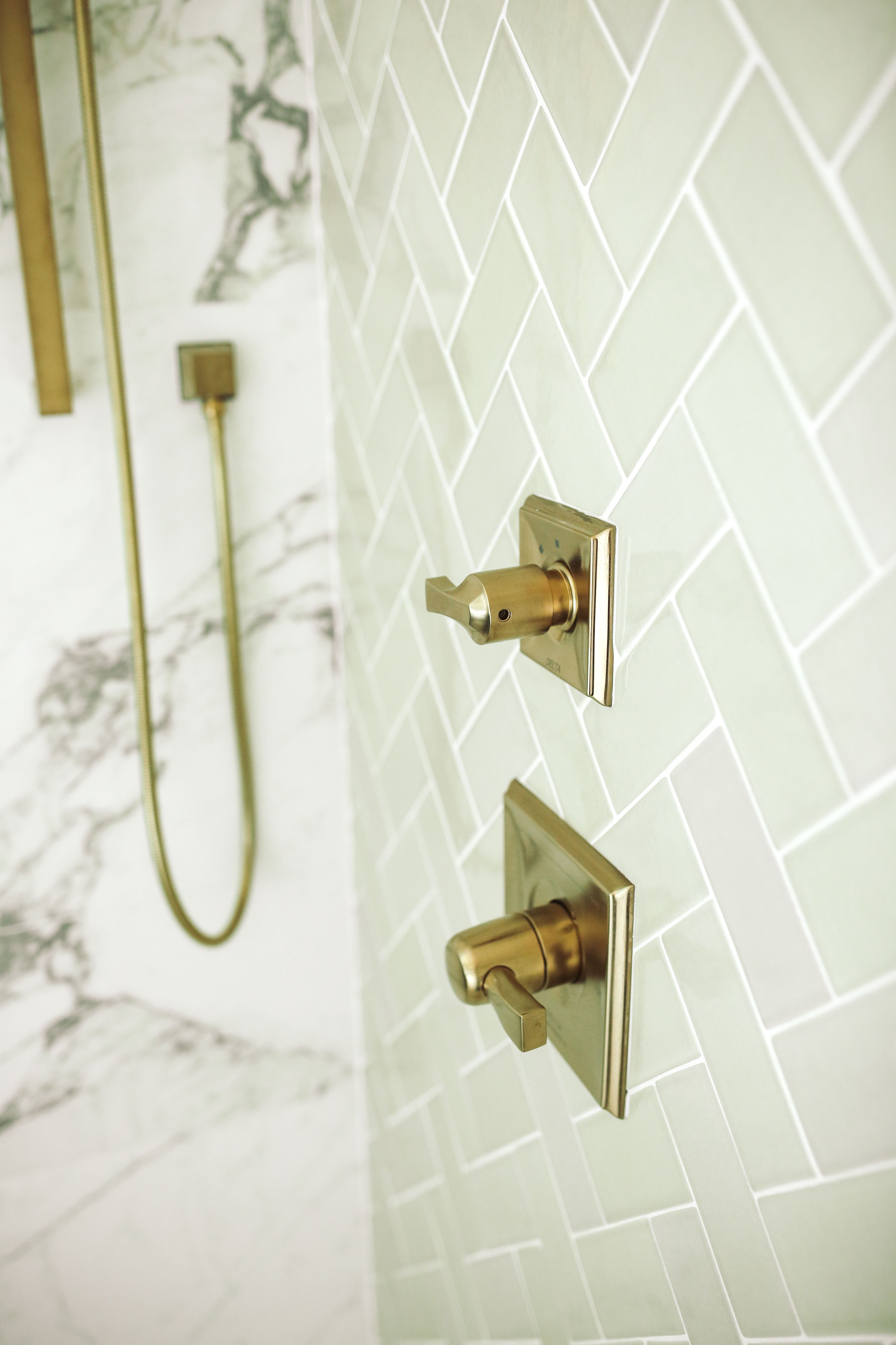 Natural stone with hand moulded tile make this shower one ...