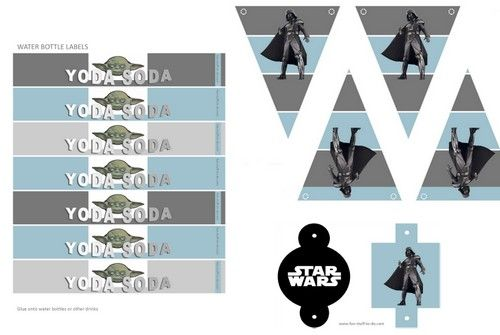 Star wars free printable banniere diy decoration party birthday anniversaire - Deco anniversaire enfant ...