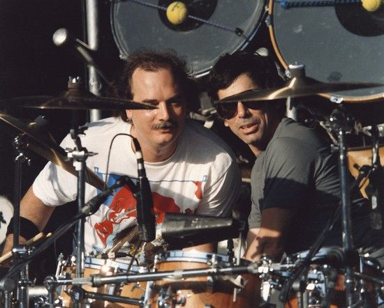 Grateful Dead, ca. 1987: Bill Kreutzmann and Mickey Hart