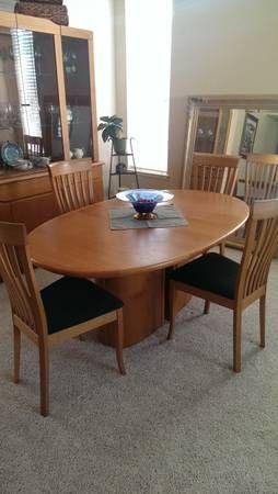 Scandinavian Designs Skovby Teak Table Dining Set 6 Chairs Teak