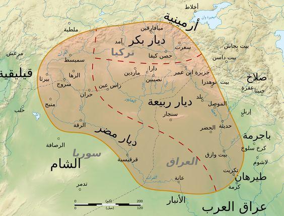 ديار بكر وربيعة ومضر القرن السابع الميلادي Map Quotes Map Screenshot