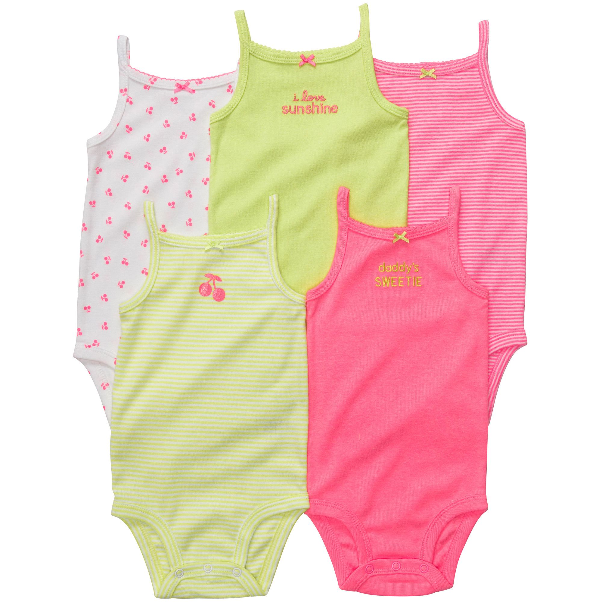 23690cf7908 Carters 5-pack Sleeveless Bodysuits
